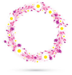 Pink round flowers vector