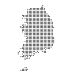 Pixel map of south korea dotted map of south vector