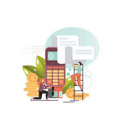 pos terminal flat style design vector image