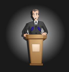president speech from tribune vector image