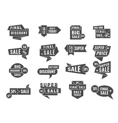 promo tag badges sale and offers retail banners vector image
