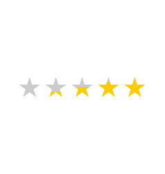 rating stars star review rating feedback concept vector image
