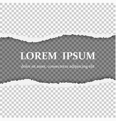Realistic torn paper with ripped edges vector