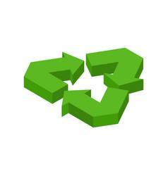 Recycling sign green recast symbol running emblem vector