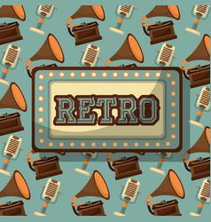 Retro vintage devices vector