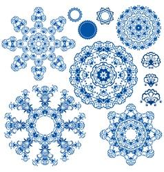 round ornam blue 1 380 vector image