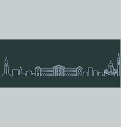 san salvador single line skyline vector image