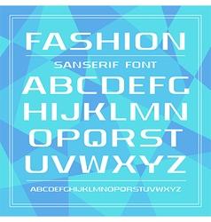 Sanserif promotional font vector