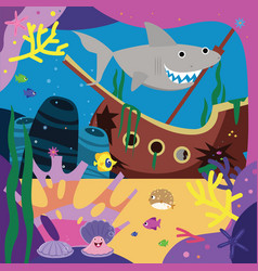 sea story cartoon vector image