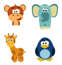 set 4 animals vector image