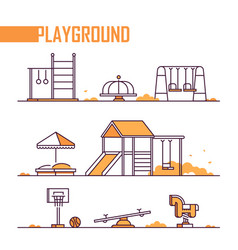 set of playground elements - modern vector image