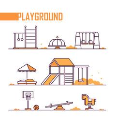 set playground elements - modern vector image
