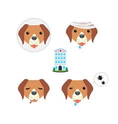 sick dog icon vector image
