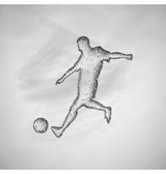 Soccer player icon vector