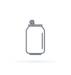 soda can icon isolated on background modern flat vector image