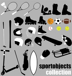 Sport equipment set vector