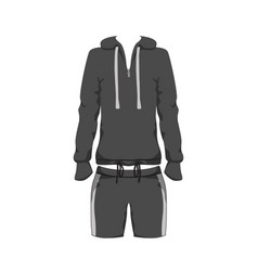 Sport outfit suit template running gym sportwear vector