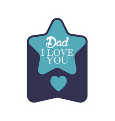 star father day badge sticker logo icon design vector image