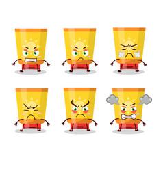 Sun block cartoon character with various angry vector