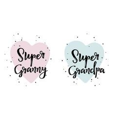 Super granny and grandpa superhero cute vector