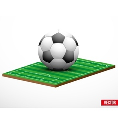 Symbol of a football or soccer game and field vector