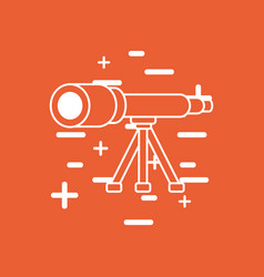 telescope icon image vector image