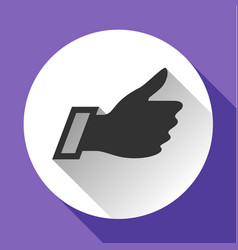 Thumbs up white round buttons vector