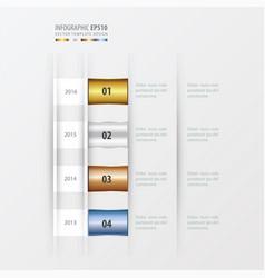 timeline design design gold bronze silver blue vector image