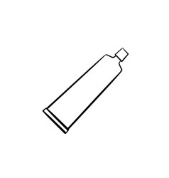 Toothpaste tube hand drawn outline doodle icon vector