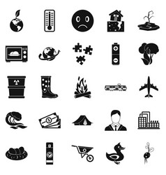 torrid icons set simple style vector image vector image