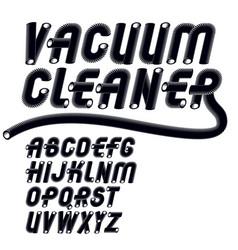Trendy italic capital uppercase alphabet letters vector