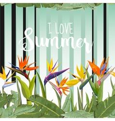 Tropical Floral Background Vintage Seamless vector image