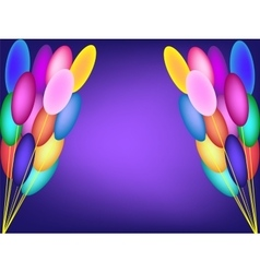Two bundles of balloons background birthday vector
