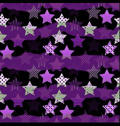 Ultra violet stars background vector