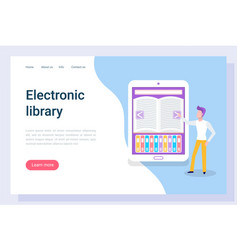 website for reading online man and e-book vector image