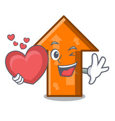 with heart arrow mascot cartoon style vector image