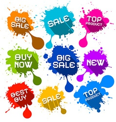 Blots Splashes Sale Icons vector image vector image