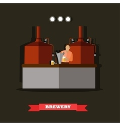 Brewery and beer restaurant concept vector image vector image