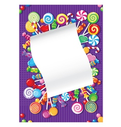 candy and sweets card vector image vector image