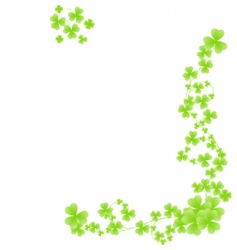 corner shamrock pattern vector image vector image