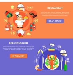 Delicious Cafe Banners Set vector image