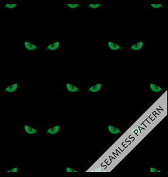 seamless pattern with green cat eyes vector image