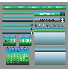 Web Elements Design Blue and Green vector image