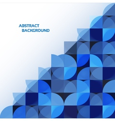 Blue geometrical abstract background eps 10 vector image vector image