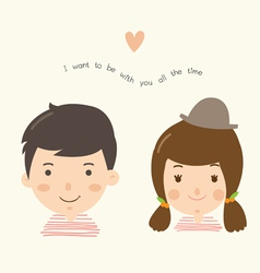 couple boy girl vector image vector image