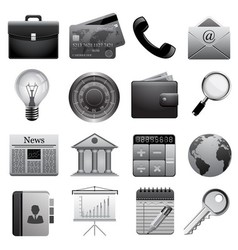 Detailed business icons vector image