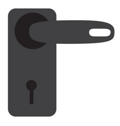 door handle icon on white background door handle vector image
