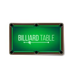 Empty billiard table green game snooker vector