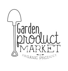 garden product market black and white promo sign vector image vector image