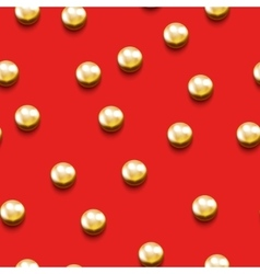 Seamless pattern with golden beads vector image